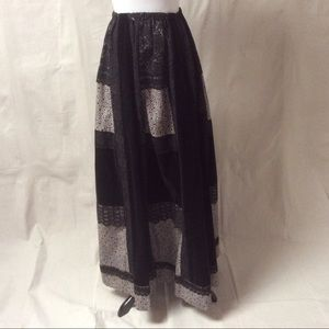 🆕 Vtg. 60's Carefree Fashions Maxi Prairie Skirt